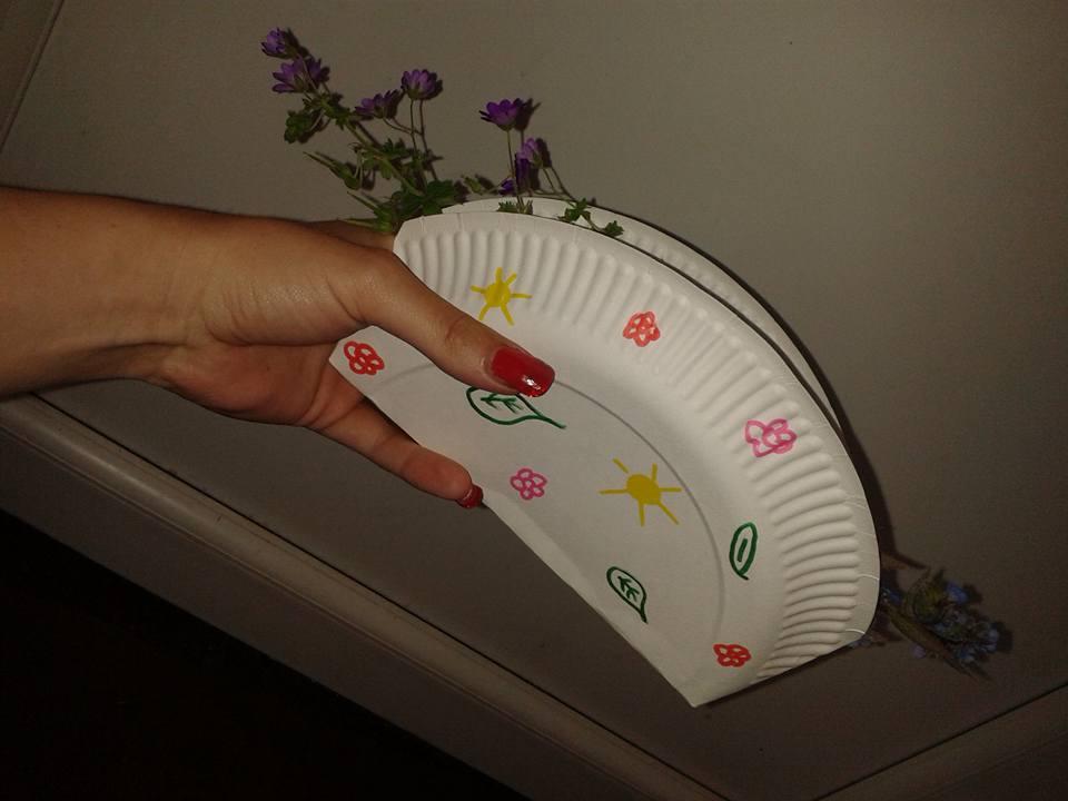 Paper plate crafts basket