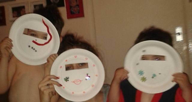 paper plate crafts masks