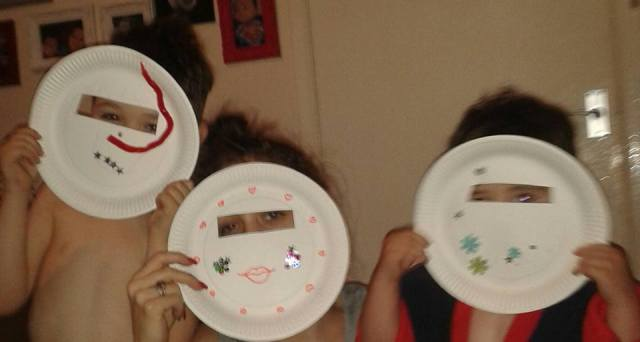 paper plate crafts masks