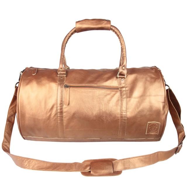 MAHI Gold Duffle leather bag