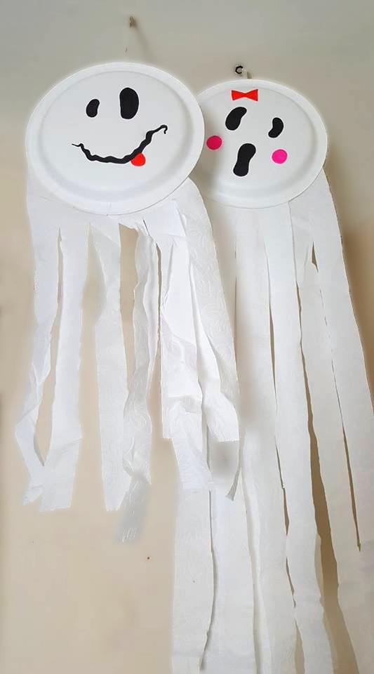Paper Plate Ghosts & Easy Halloween Crafts For Kids \u2013 Tahnee\u0027s Blog \u2013 Beauty Fashion ...
