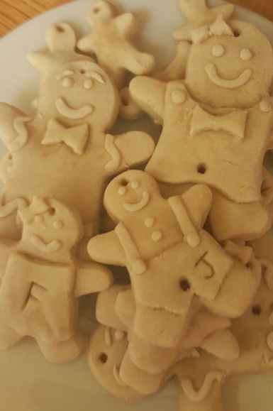 salt dough christmas crafts -Baked