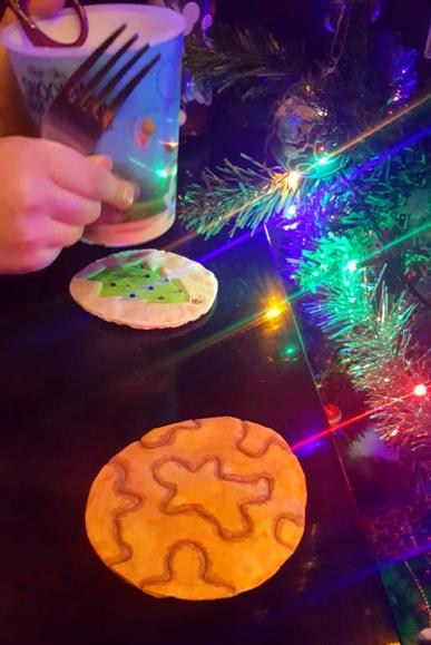 Salt Dough Christmas crafts -Coasters