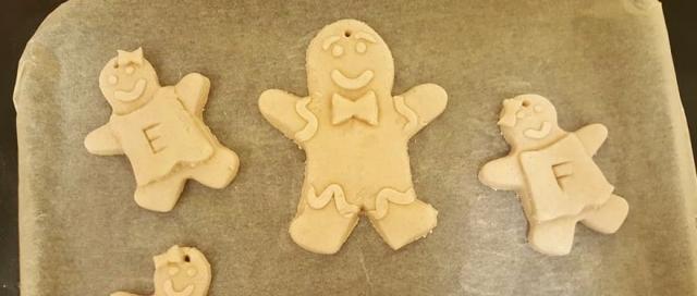 Salt Dough christmas crafts - Not baked