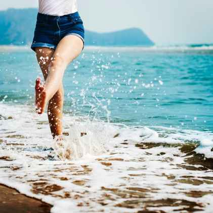 Summer skin care for dry