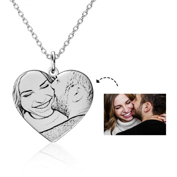 personalised-photo-engraved-heart-necklace-silver