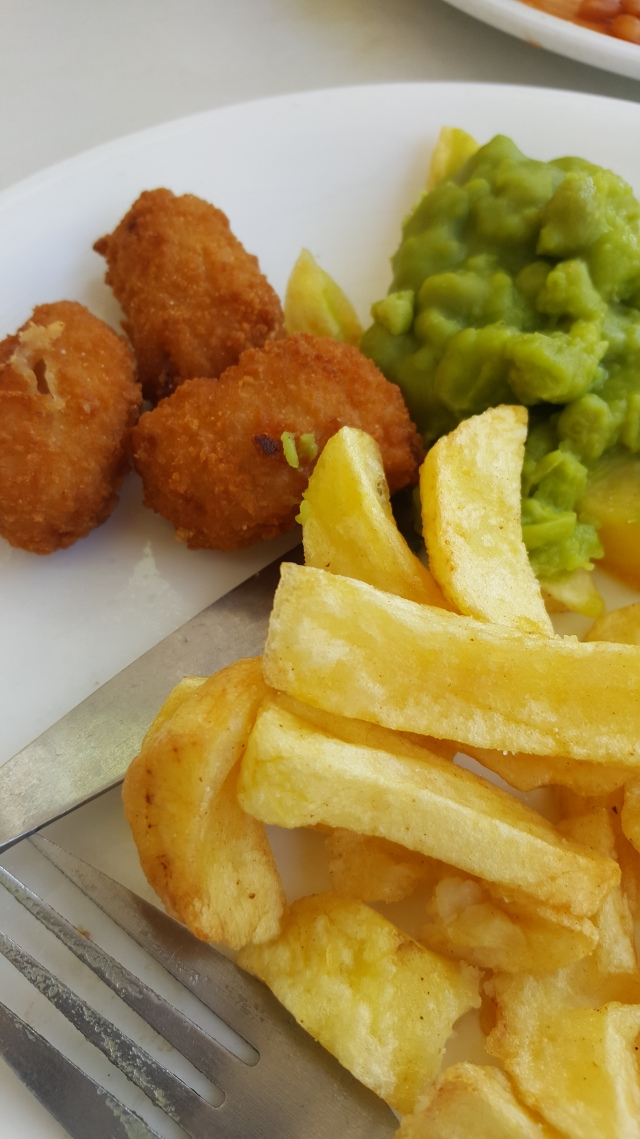 Weston super mare beach days fish and chips