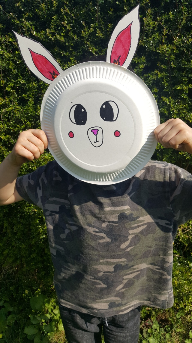 Paper Plate crafts Easter mask